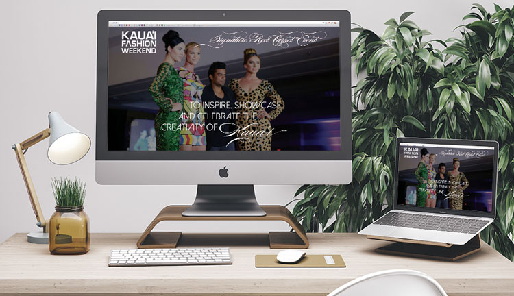 Kauai Fashion Weekend Website Mockup