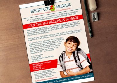 Backpack Brigade Flyer