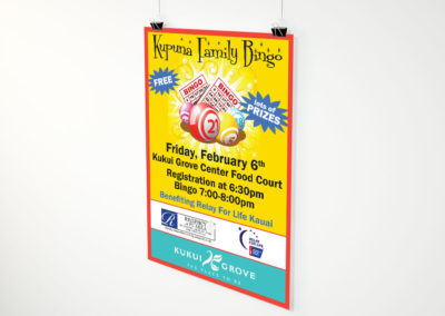 Kupuna Family Bingo Poster