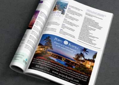 Poipu Kapili Hawaii Romance Magazine Ad