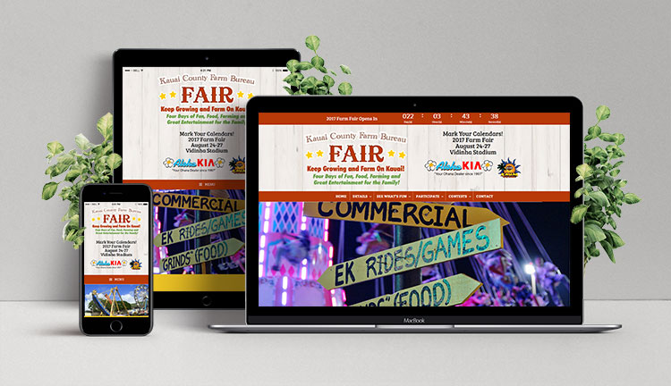 Kauai Farm Fair Website Mockup