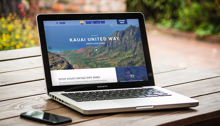 Kauai United Way Website Mockup