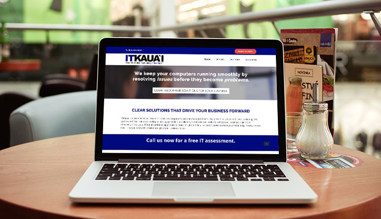 IT Kauai Website Mockup